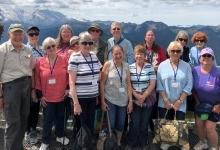 senior citizens group photo outside
