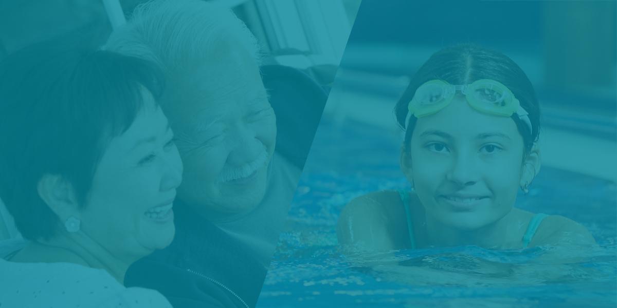 Seniors and swimmer