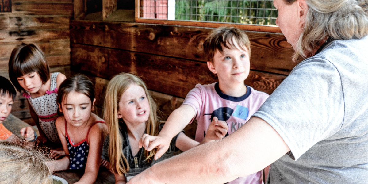 Summer camp employee at Farrel-McWhirter Farm