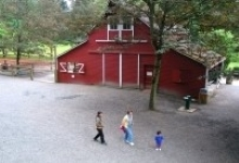 Red Barn on Farm