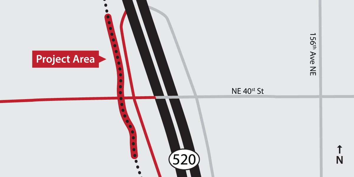 SR 520 Trail Grade Separation map