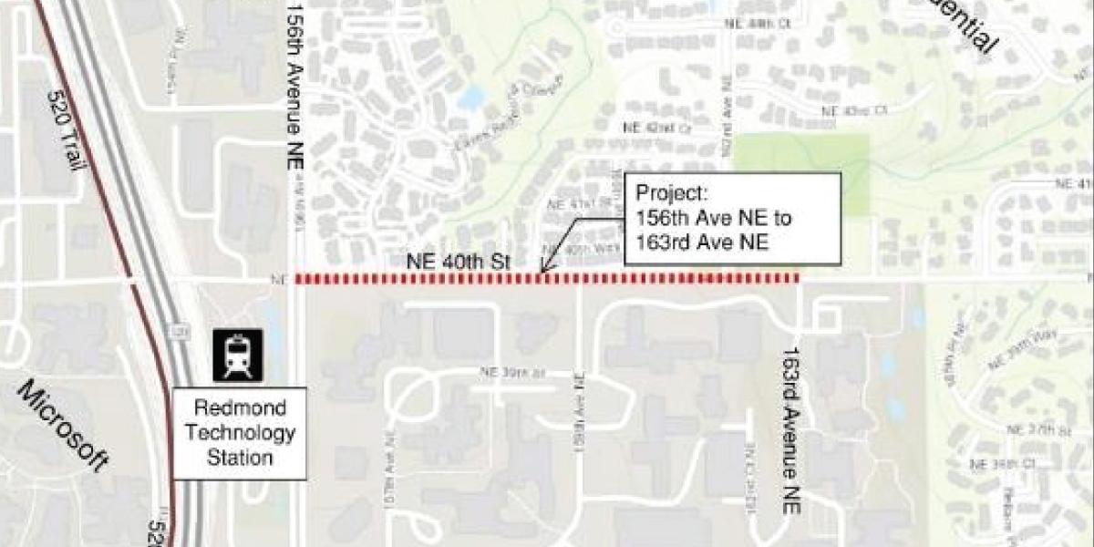 NE 40th Street Map
