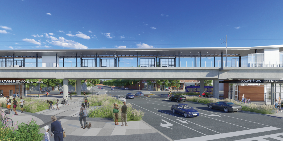 Downtown Light Rail Station rendering