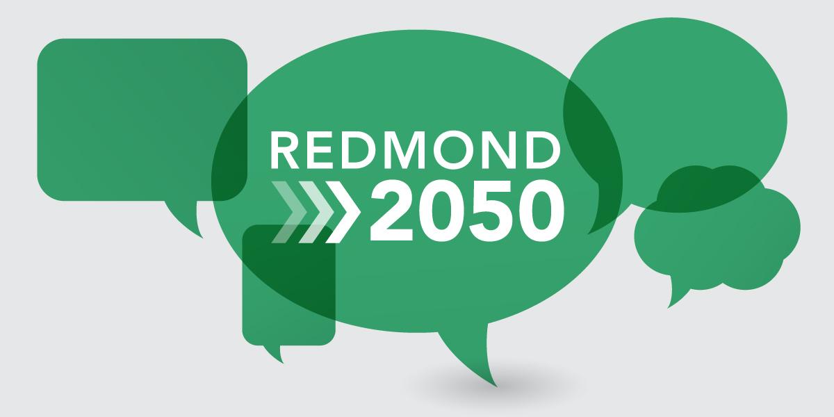 Redmond 2050 speech bubbles
