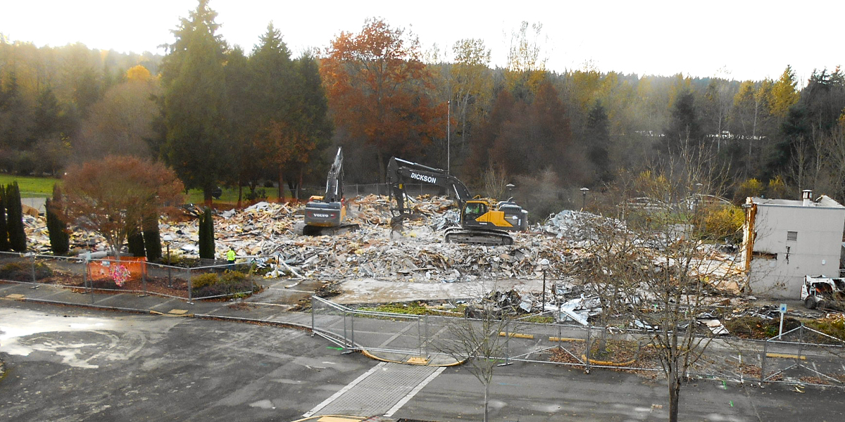 Senior Center demolished