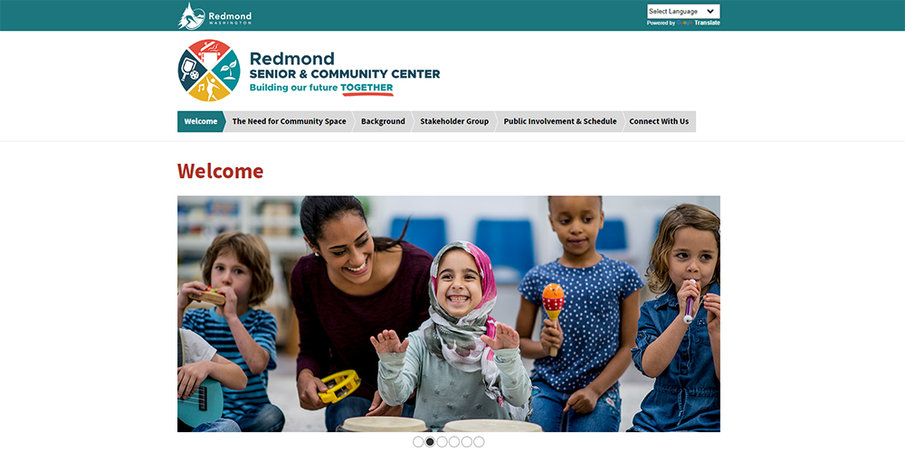Redmond Senior and Community Center Website