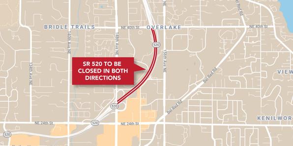 SR 520 Closure Map