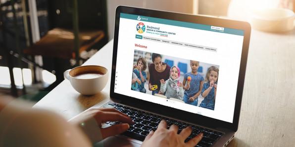 RSCC website viewed on a laptop