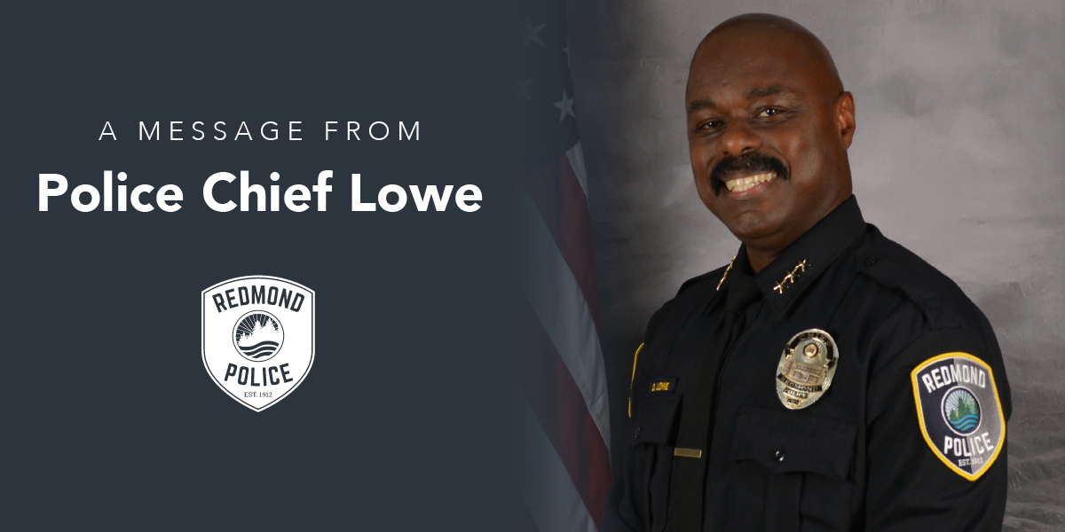 Message from Chief Lowe
