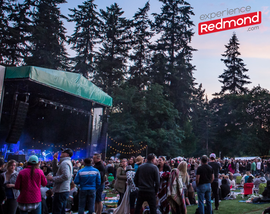 Redmond Concert with Experience Redmond's logo overlayed