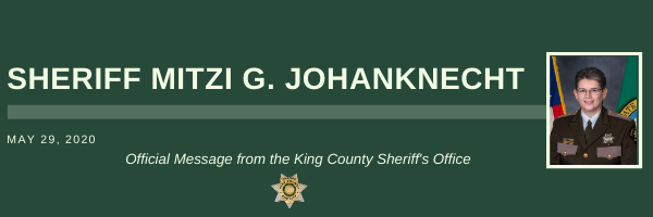 Official Message from the King County Sheriff