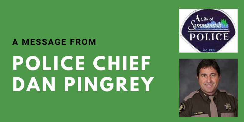 Message from Chief Pingrey