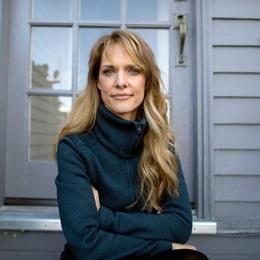 Lynn Shelton sitting on a porch