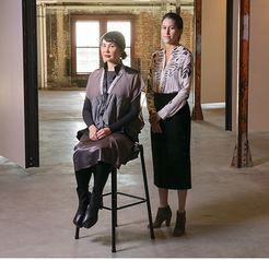 S. Surface, Office of Arts & Culture King Street Station Program Lead (seated) and Asia Tail