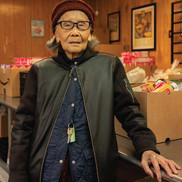 Xiao Ling Chen at the ACRS Food Bank in Seattle's Chinatown-International District