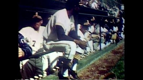 Members of the Seattle Pilots, the city's first major-league baseball team, pictured in the dugout.