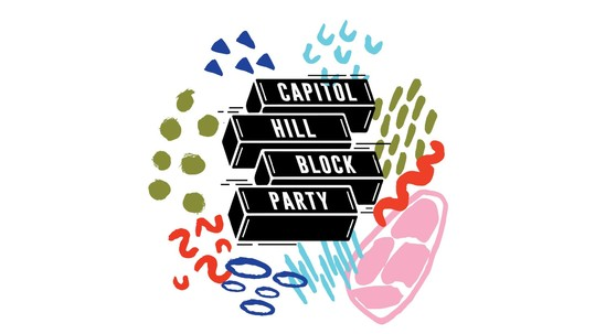 Capitol Hill Block Party abstract graphic header