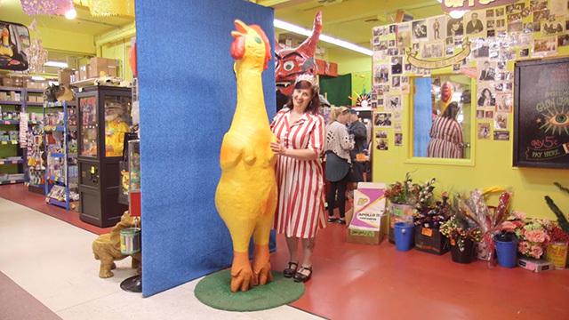 Archie McPhee rubber chicken museum