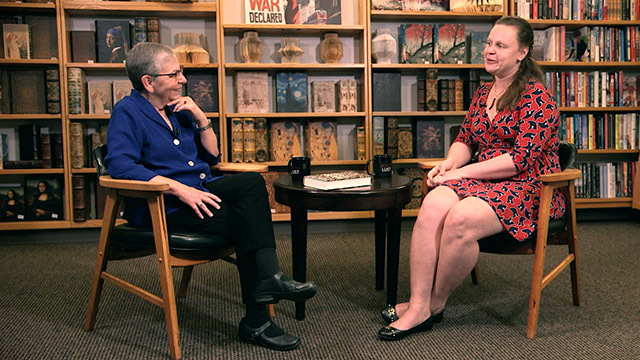 Nancy Pearl and author Juliet Grames