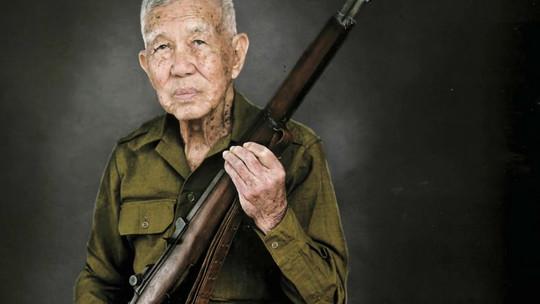 Shane Sato portrait of a veteran.