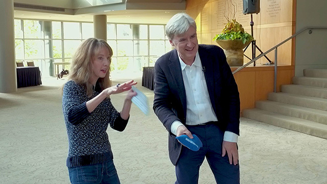 Nancy Guppy with Seattle Symphony's new music director Thomas Dausgaard