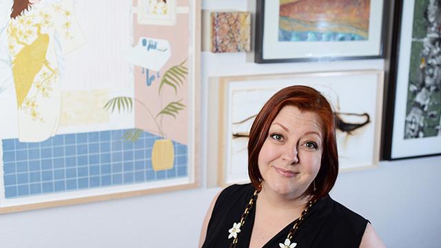 Judith Rinehart at her Pioneer Square art gallery.