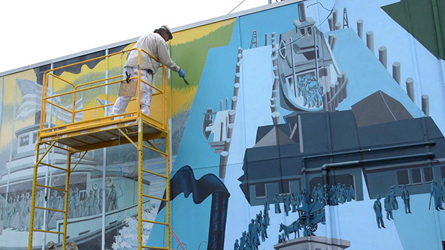 West Seattle mural being renovated