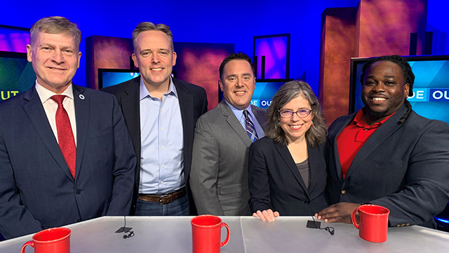 Panelists post with City Inside/Out host Brian Callanan