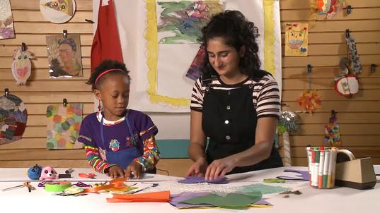 Crafting butterflies on Look, Listen & Learn