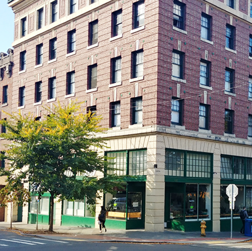 brick building exterior