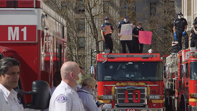 First responders thank front line workers