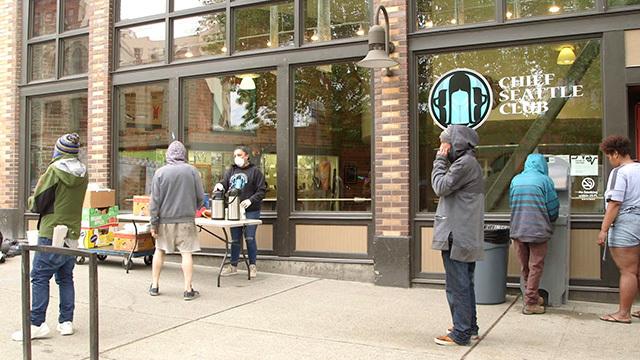 Chief Seattle Club food line