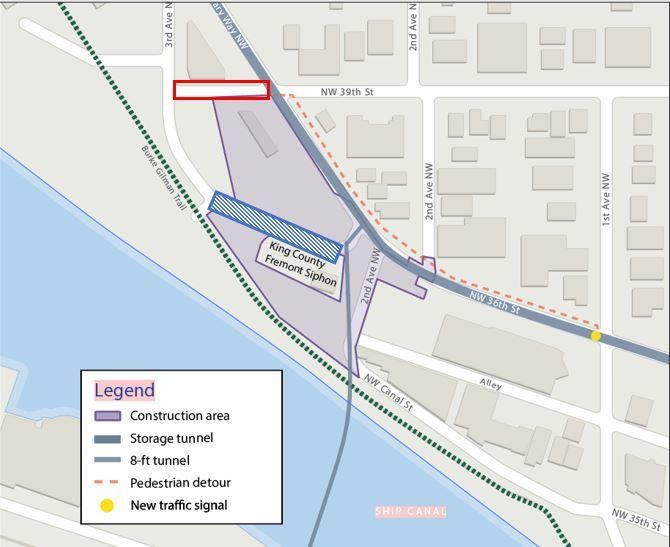 Diagram showing Fremont traffic impacts.