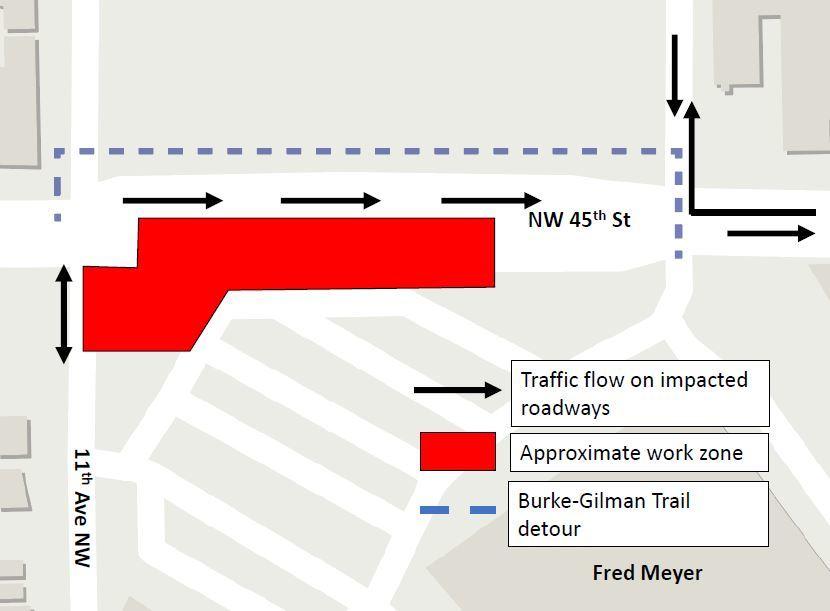 Diagram showing traffic impacts in East Ballard