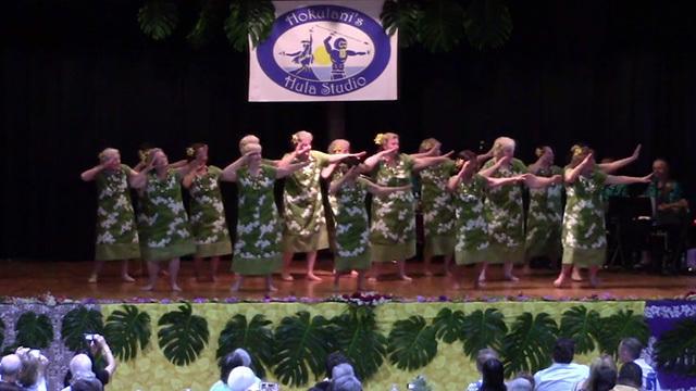 Senior hula dancers