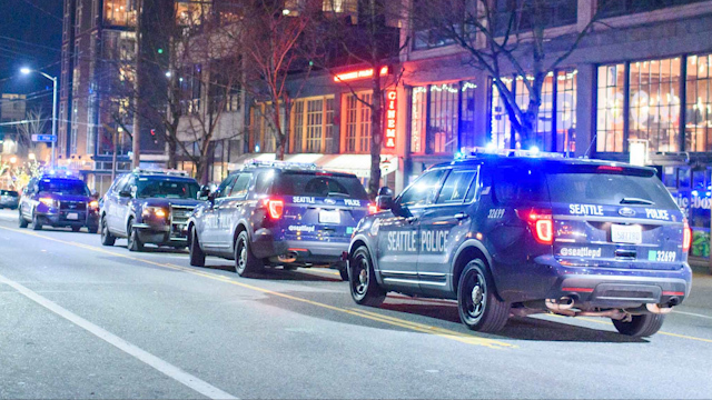 Seattle Police vehicles