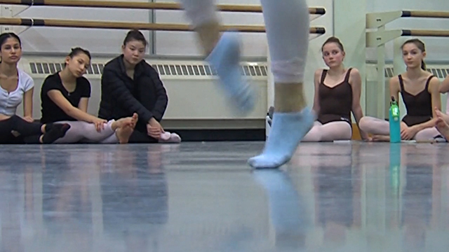 Dancers in the New Voices class at Pacific Northest Ballet