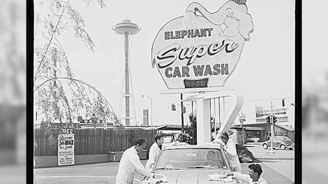 Old photo of Elephant Car Wash