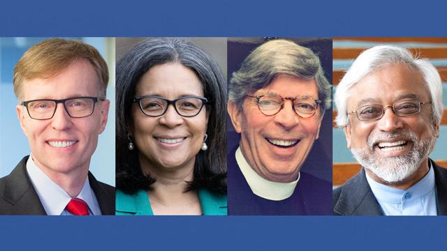 Rob McKenna, Marilyn Strickland, Pastor Don Mackenzie and Imam Jamal Rahman