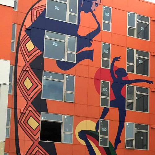 Building mural in AfricaTown