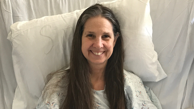 Jill Farris recovers from the hospital