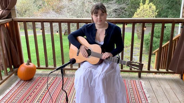 """15-year-old singer/songwriter Mora Kennan performs """"Stella's Song"""""""