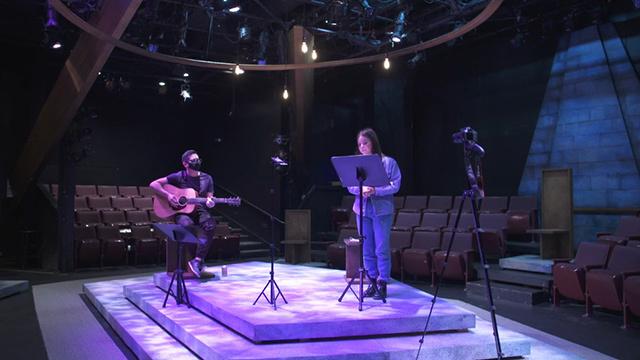 Actors in ArtsWest in West Seattle