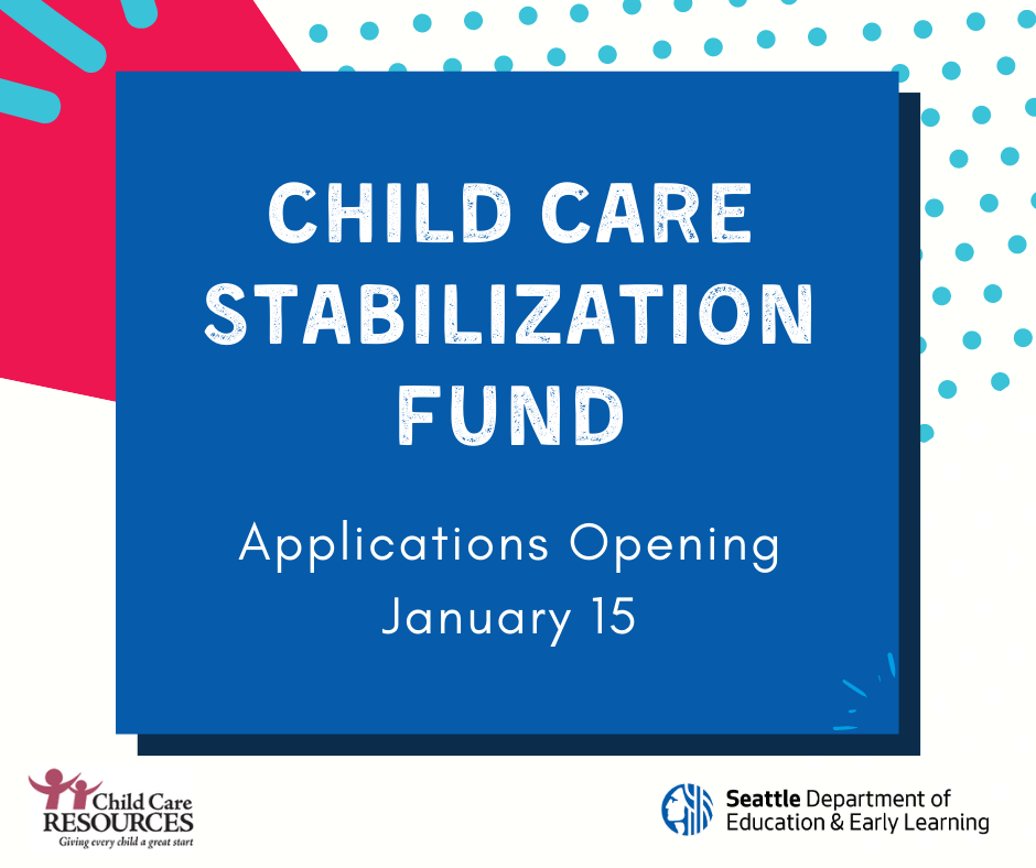 Child Care Stabilization Fund Opening Soon