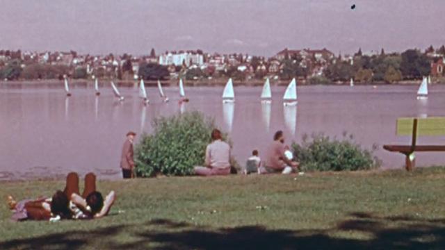 Scene from Seattle park in 1977