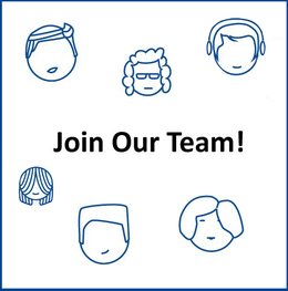 """Illustrated faces with text that says """"Join our Team"""""""