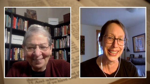 Nancy Pearl with author Jamie Harrison