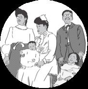 illustration of Cayton-Revels family