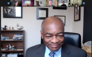 Judge Willie Gregory speaking on a Zoom presentation