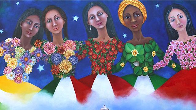 Colorful artwork by Blanca Santander